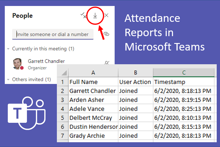 Attendance report in Teams